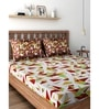 Maroon 100% Cotton Queen Size Bedsheet - Set of 3 by Raymond Home