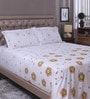 White 100% Cotton King Size Bed Sheet - Set of 3 by Raymond Home