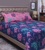 Multicolour 100% Cotton Queen Size Bedsheet - Set of 3 by Raymond Home