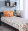 Multicolour 100% Cotton Single Size Bedsheet - Set of 2 by Raymond Home