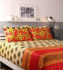 Raymond Home Multicolour Cotton King Size Bed sheet - Set of 5