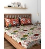Raymond Home Orange 100% Cotton Queen Size Bedsheet - Set of 3
