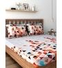 Raymond Home Orange 100% Cotton Queen Size Bedsheet - Set of 3