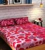 Raymond Home Orange Cotton Queen Size Bedsheet - Set of 3