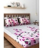 Pink 100% Cotton Queen Size Bedsheet - Set of 3 by Raymond Home