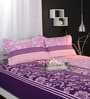 Pinks Abstract Patterns Cotton Queen Size Bed Sheets - Set of 3 by Raymond Home