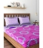 Raymond Home Purple 100% Cotton Queen Size Bedsheet - Set of 3