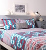 Turquoise Cotton King Size Bed Sheet - Set of 3 by Raymond Home