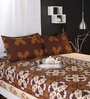 Browns Cotton Queen Size Bed Sheet - Set of 3 by Raymond Home