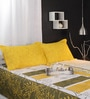 Raymond Home Yellows Geometric Patterns Cotton Queen Size Bed Sheets - Set of 3