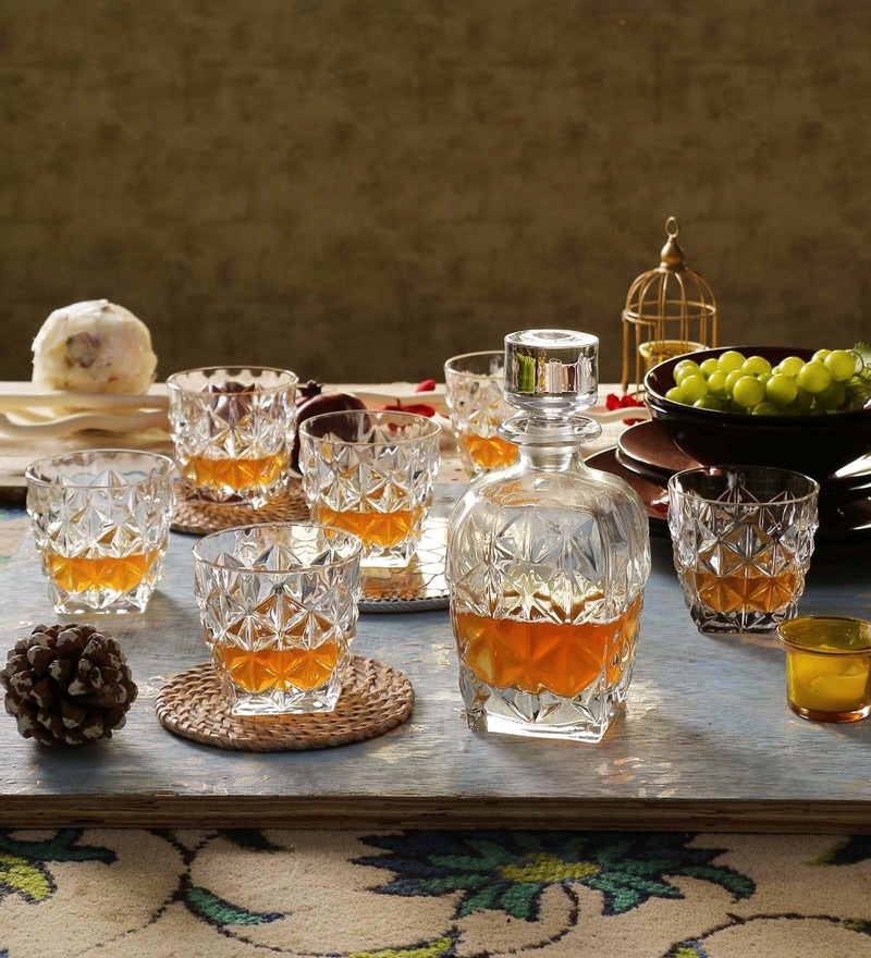 RCR Enigma Crystal Glass Whisky Set - Set of 7