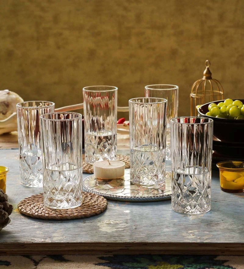 RCR Opera Crystal Glass 350 ML Highball Tumbler - Set of 6