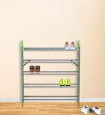 Redley Iron Shoe Rack in Green Colour
