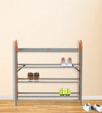 Redley Iron Shoe Rack in Orange Colour