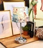 Multicolour Poly Silk Table Lamp
