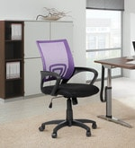 Regus Low Back Mesh Chair in Purple Colour