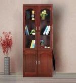 Retro Two Door Book Case in Cherry Brown Colour