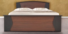 Regent King Size Bed with Hydraulic Storage in Burma Teak & Wenge Finish