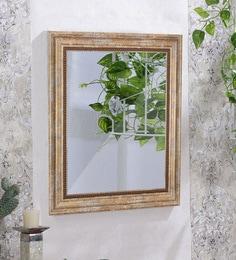 Regalia Rectangular Wall Mirror In Distressed Gold Finish