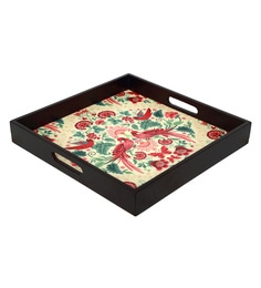 Reinvention Factory Multicolour Mdf Wooden Tray With Matt Finish - 1662820
