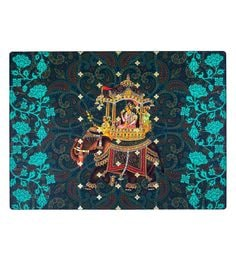Reinvention Factory Multicolour Wooden Placemats With Raja Design - Set Of 6