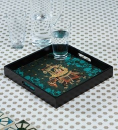 Reinvention Factory Raja Rani Wooden Square Tray