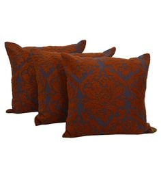 Reme Multicolour Cotton 18 X 18 Inch Ari Work Cushion Covers - Set Of 3