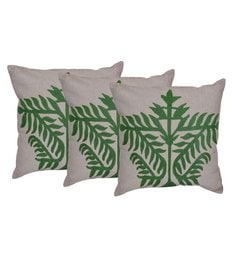 Reme Multicolour Cotton 18 X 18 Inch Ari Work Cushion Covers - Set Of 3 - 1593180