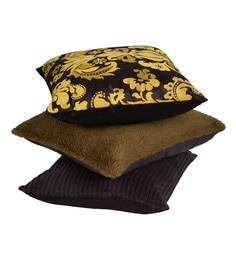 Reme Multicolour Cotton 18 X 18 Inch Ari Work Cushion Covers - Set Of 3
