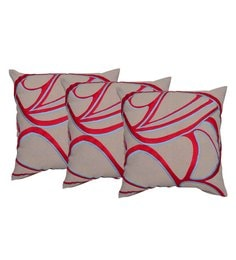 Reme Multicolour Cotton 18 X 18 Inch Ari Work Cushion Covers - Set Of 3 - 1593169