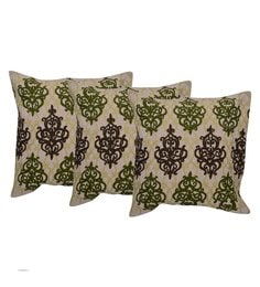 Reme Multicolour Cotton 18 X 18 Inch Ari Work Cushion Covers - Set Of 3 - 1593143