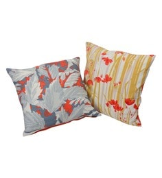 Reme Multicolour Cotton 18 X 18 Inch Digital Printed Cushion Covers - Set Of 2