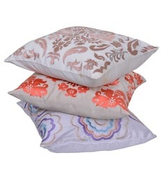 Reme Multicolour Cotton 18 X 18 Inch Morning Mix Cushion Covers - Set Of 3