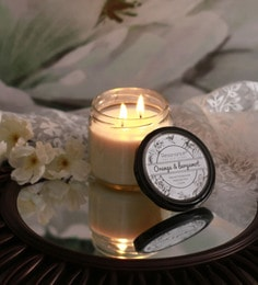 Resonance Candles Orange & Bergamot Fragrance Natural Wax Aroma Candle With Double Wicks