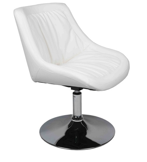 Reception Designer Chair in White Colour by Ventura  sc 1 st  Pepperfry & Buy Reception Designer Chair in White Colour by Ventura Online ...