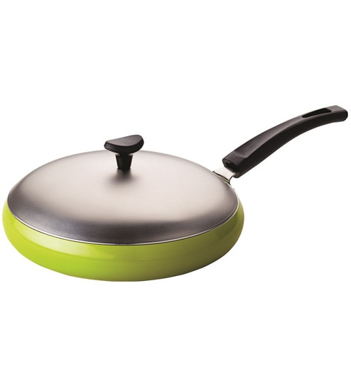 aluminium 10 inch grandchef non stick fry pan green by recon - Non Stick Frying Pan