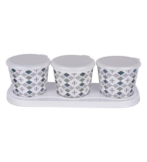 Buy Recon Melamine Crunchy Diamond Green Round 600 ML Storage