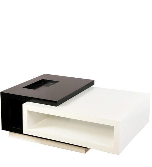 Rectangular Center Table In Black U0026 White Colour By Lakkarhara