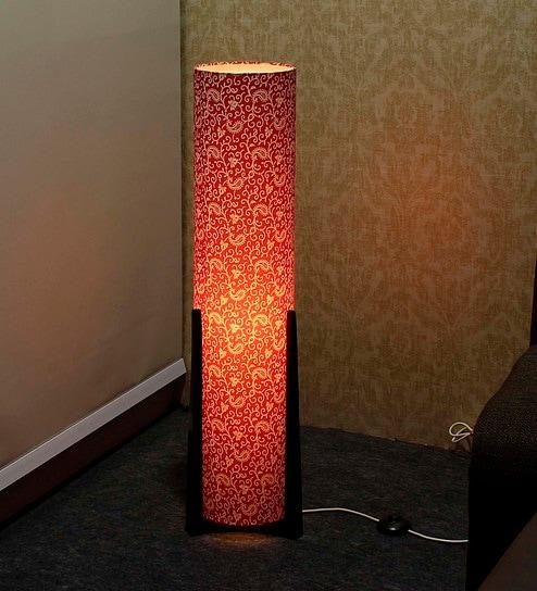Buy Red Fabric Floor Lamp by Craftter Online - Eclectic Floor Lamps ...