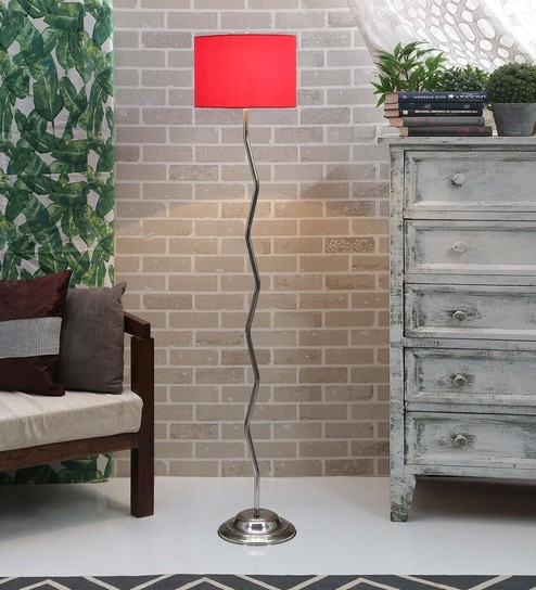 Buy red poly cotton zig zag floor lamp by lamp post online red poly cotton zig zag floor lamp by lamp post mozeypictures Gallery