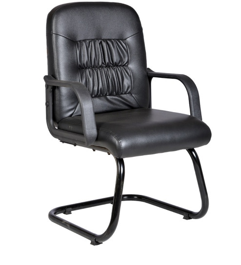 Regal Cantilever Office Chair In Black Colour By Durian