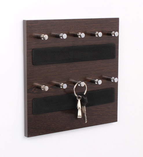 Adriano Contemporary Key Holder in Brown by CasaCraft