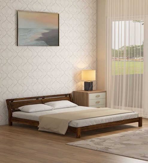 huge selection of 0e972 3dcbf Reno Solid Wood King Size Bed in Provincial Teak Finish by Woodsworth