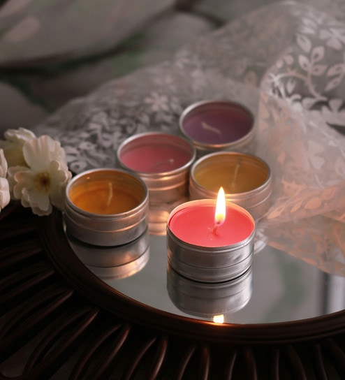 Resonance Candles Gift Set With 5 Assorted Fragrance Candles
