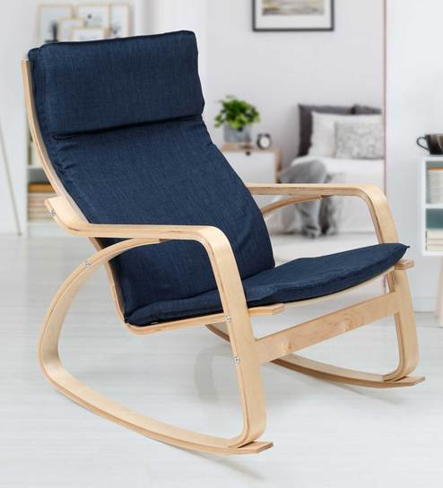 Phenomenal Reston Accent Chair In Blue Colour By Evok Ibusinesslaw Wood Chair Design Ideas Ibusinesslaworg