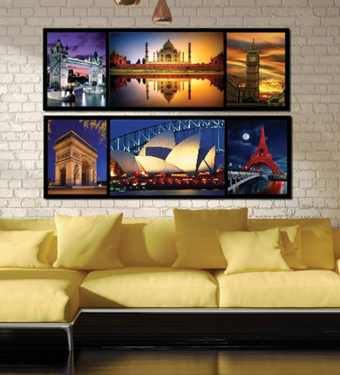 Buy Retcomm Framed Multiple Canvas Paintings Multiple frames for ...
