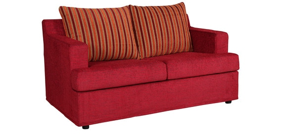 Remo Two Seater Sofa Bed In Red Colour By Kurl On