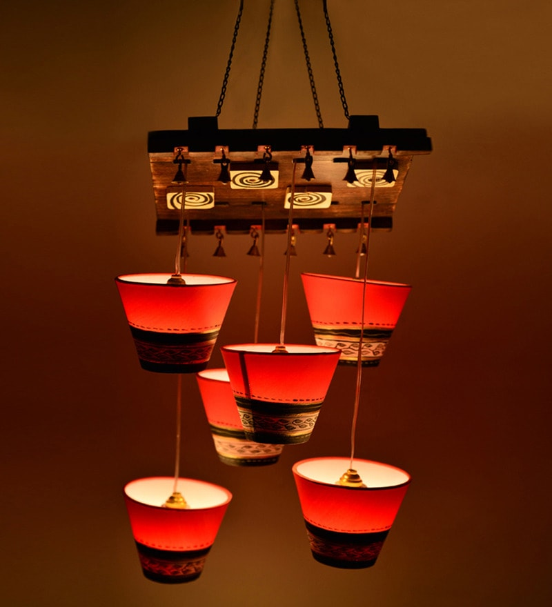 Red Mango Wood Chandelier by ExclusiveLane