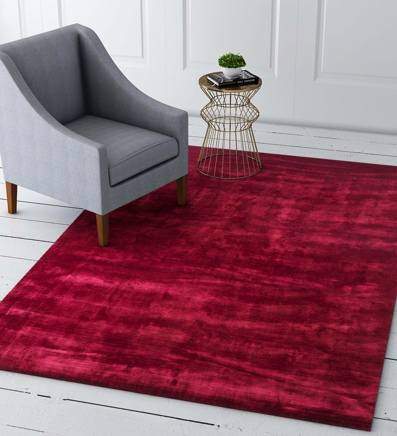 Red Silks 90 x 60 Inch Carpet by Imperial Knots