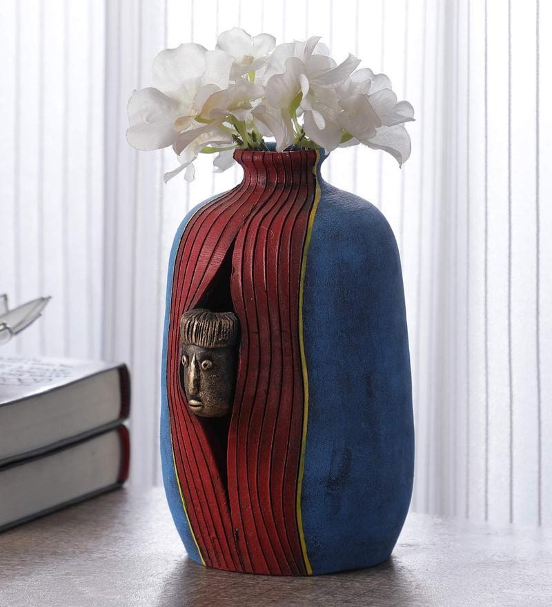 Pepperfry & ONVAY Terracotta Handmade Flower Vase For Home